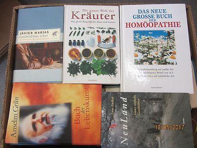 48 Bücher Hardcover Romane Sachbücher verschiedene Themen Paket 1