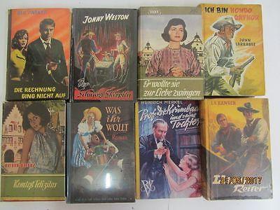 39 Bücher alte Leihbücher Kriminalromane Westernromane Liebesromane