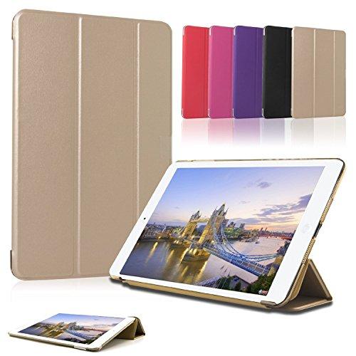 SAVFY Apple iPad Pro 12.9 Hülle Ultra-Slim Premium Kunstleder mit Standfunktion und Automatischem Schlaf Aufwachen Funktion, Gold