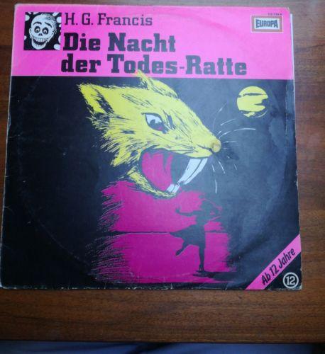 LP Vinyl Hörspiel H.G. Francis Die Gruselserie Folge 12 Die Nacht der Todesratte