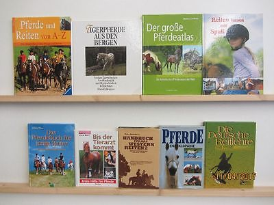 55 Bücher Pferde Pferderassen Reiten Pferdepflege Westernreiten Gesundheit
