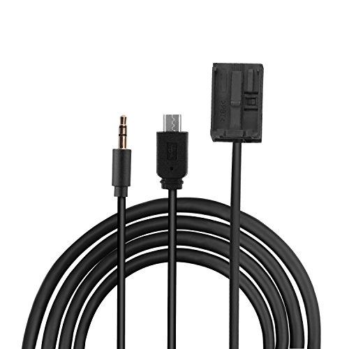 Eximtrade 3,5mm AUX und Micro USB Steckverbinder Audio MP3 Musik Kabel Aufladekabel für Ford Autoradio 6000CD Visteon
