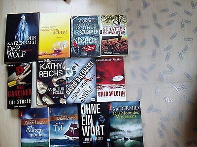 Bücherpaket 12  Bücher - Taschenbücher  Krimi und Thriller