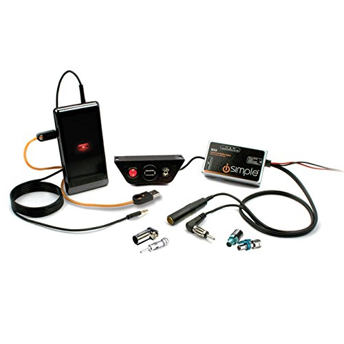 iSimple TranzIt USB IS32 AUX-Adapter (USB-Ladeport) für alle Fahrzeugmarken mit DIN+ISO+FAKRA
