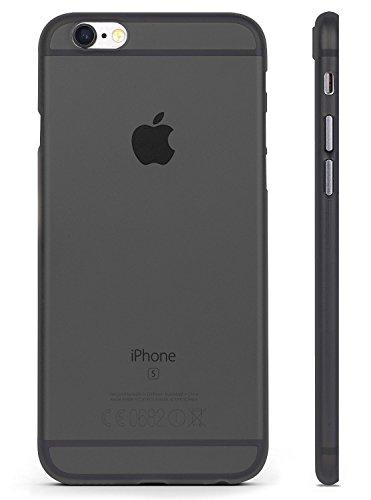 iPhone 6 Hülle , Transparent , UltraSlim , 0.35 mm Antikratz , NEUES MODELL 2017 , iPhone 6 Case , RED CANARY, LEBENSLANGE GARANTIE , Schwarz