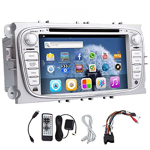 Android 5.1 3D GPS kapazitives Multi-Touch-Screen-Elektronik Autoradio f¨¹r Ford Focus 2 / Mondeo / S-max Radio Receiver Auto DVD CD VCD Auto-Stereoanlage f¨¹r Ford Focus-Auto-Video-Player PC-Audio BT Audio RDS In Dash Lenkradsteuerung logo