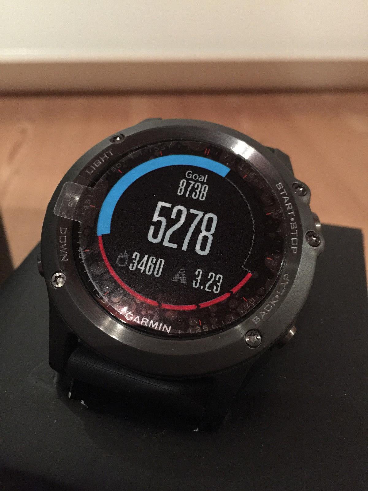 Garmin Fenix 3 GPS Fitness Laufen Schrittzähler Uhr Tracker Smart wie Neu OVP
