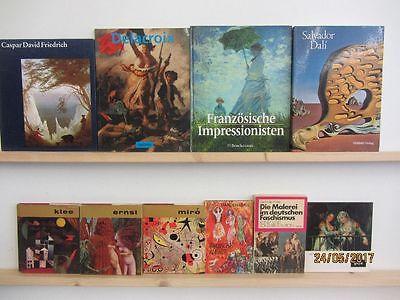 40 Bücher Bildbände Maler Malerei Künstler Gemälde Delacroix Miro Klee Dali u.a.