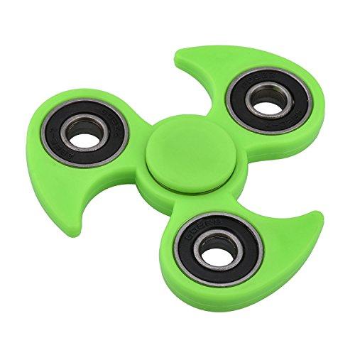 Hand Spinner KZKR Tri-Spinner Wirbelwind Dreieck Spinner Fidget Spielzeug für Anti Stress Erwachsene und Kinder Grün Y213-G