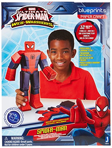 Jazwares 12811 - Blueprints Marvel Papier Bastelset Spiderman, groß, 30 cm