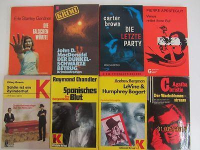 121 Bücher ältere Krimi Kriminalromane Detektivromane Spionageromane