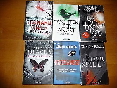 Bücherpaket 3,Kindertotenlied,Federspieler,Blinder Feind,Todesangst usw Thriller