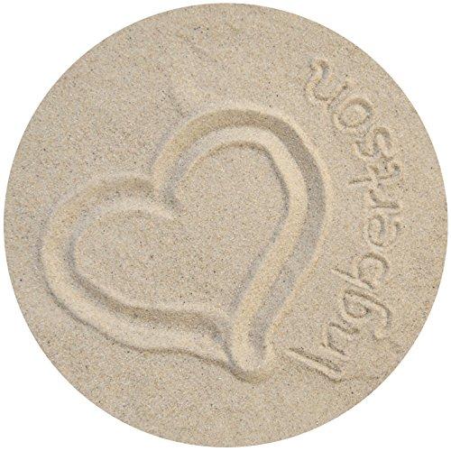 1kg Ingbertson® Dekosand natur Bastelsand Streuartikel 0,1-0,3mm Körnung im Beutel
