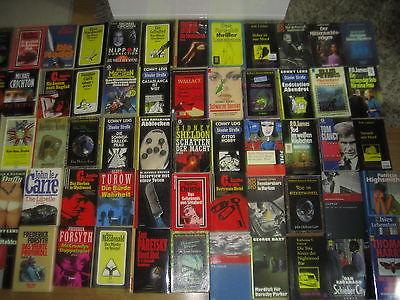 Büchersammlung 60Stk. Buchpaket nur ältere Thriller Krimi Oldies Romane Konvolut