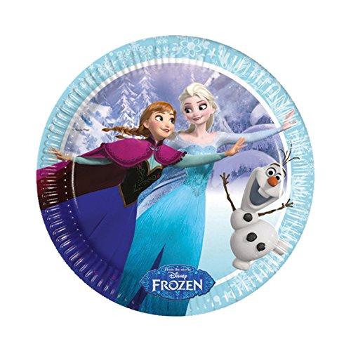 Frozen TELLER cut out Hängedekoration FROZEN NEU ICE SKATING Dekoration Raumdekoration Elsa und Anna Kindergeburtstag