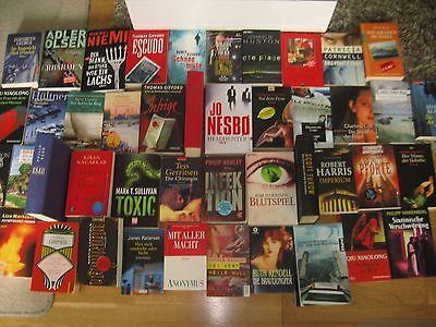 Büchersammlung 45 Stk. Romane Buchpaket Spannung nur Thriller Krimi Konvolut