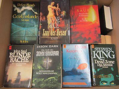 51 Bücher Romane Horrorromane Gruselromane  Peter Straub John Saul Jason Dark