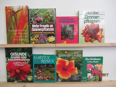 34 Bücher Bildbände Blumen Pflanzen Zimmerpflanzen Grünpflanzen Pflanzenpflege