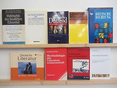 41 Bücher Literatur Literaturgeschichte Literaturwissenschaft