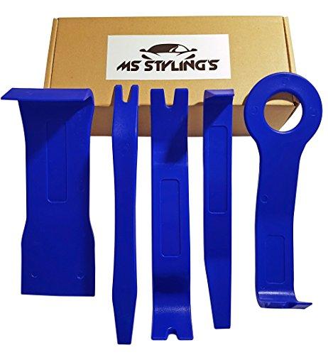 Zierleistenkeile Plastikkeile 5-teiliges Set AUTO PKW Türverkleidungs Lösewerkzeug Innenverkleidung demontage Werkzeug (BLAU)
