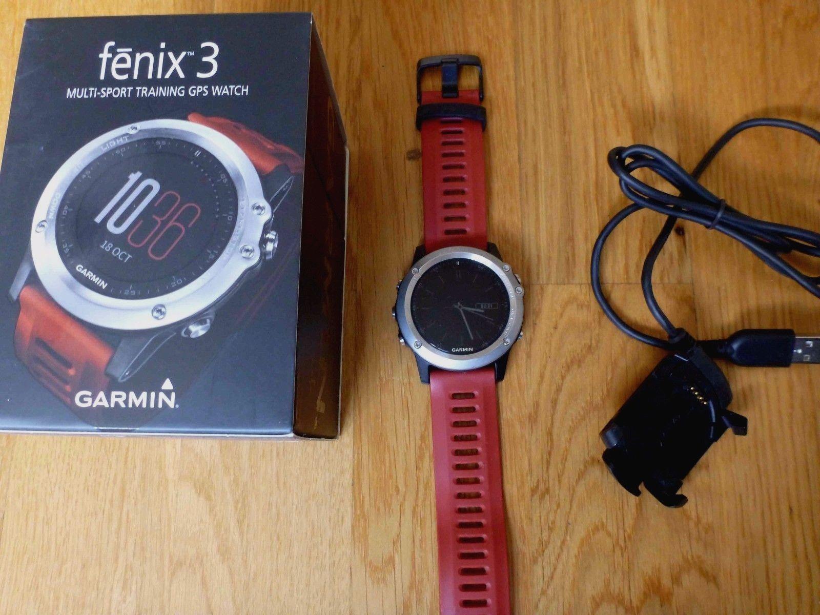 GARMIN fenix 3 Silber, GPS Multisportuhr, Laufen, Rad, Schwimmen, wie neu!