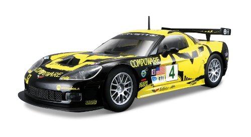 Bburago 28003 - Modellauto 1:24 Race Chevrolet Corvette C6R, gelb/schwarz, Fahrzeuge