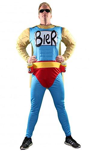 Das Männer-Kostüm   Biermann Comic Helden Kostüm für richtige Kerle   Größe S, M, L, XL, XXL   Besser kannst Du dich nicht verkleiden, Größe:XL
