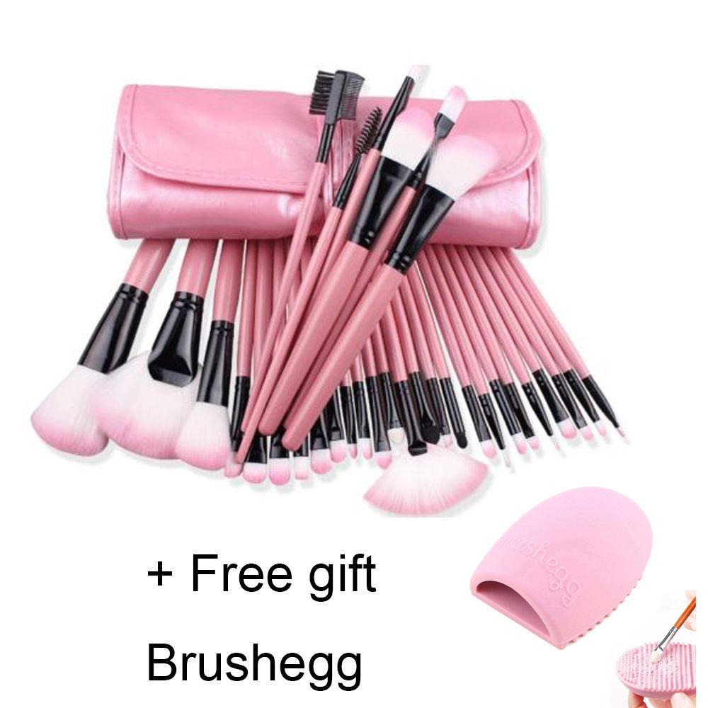32tlg Make up Pinsel Professionelle Kosmetik  Makeup Brush Schminkpinsel Set RO