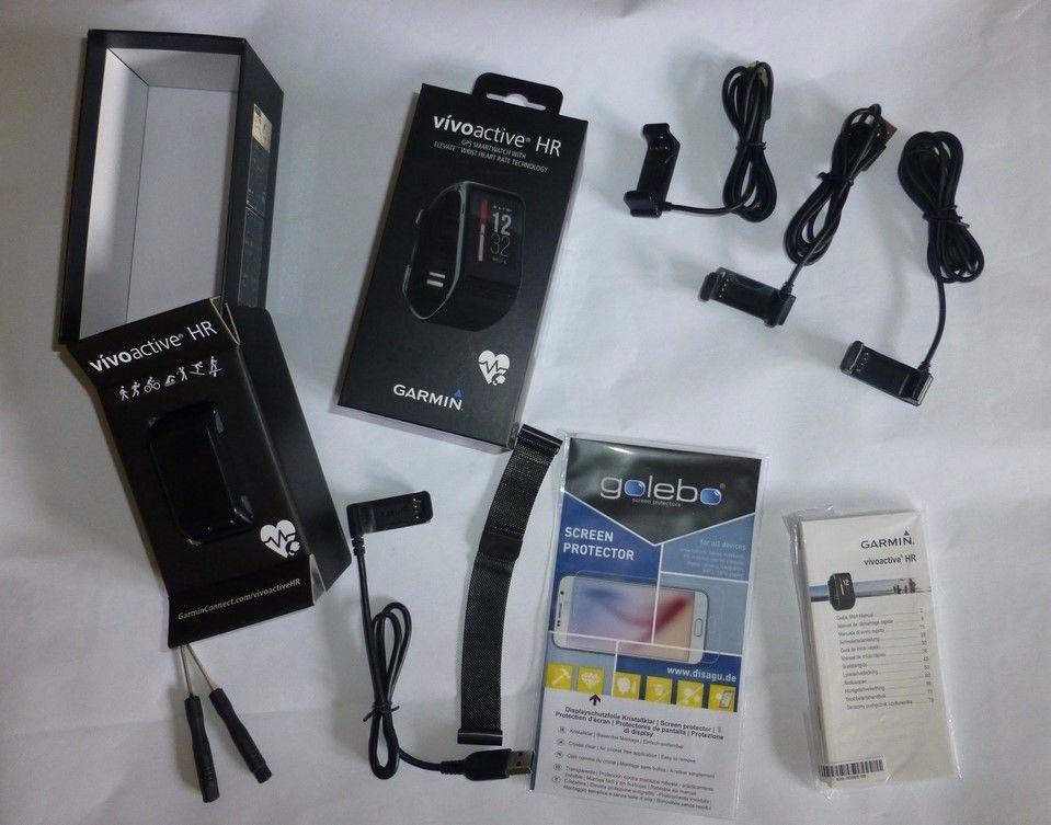 Garmin vivoactive HR, Sport-GPS Smartwatch mit Herzfrequenzmessung und Garantie