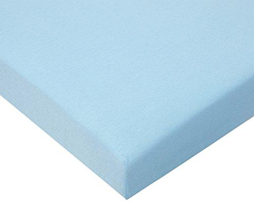 Julius Zöllner 8320113350 - Spannbetttuch Jersery für's Kinderbett, Größe: 60 x 120 cm / 70 x 140 cm, Farbe: hellblau