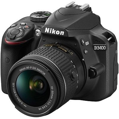 Nikon D3400 Gehäuse DSLR Kameras + AF-P 18-55mm VR Objektiv - Neu