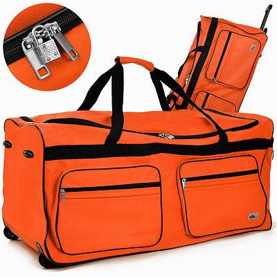XXL Reisetasche 160 L Tasche Trolley Case Koffer Reisekoffer Sporttasche orange