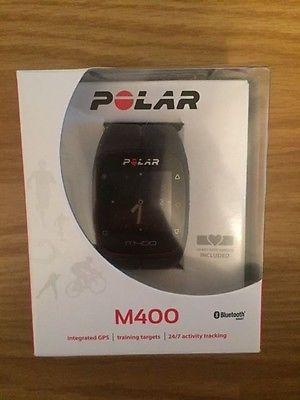 Polar M400 Laufuhr, GPS Uhr, Sportuhr, schwarz, mit Herzfrequenzmessung
