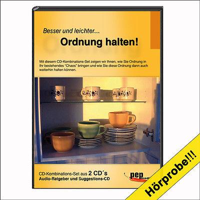 Besser und leichter... Ordnung halten! Audio-Ratgeber & Suggestion / Hypnose CD