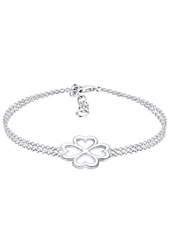 Elli Damen-Armband Kleeblatt 925 Silber 16 cm - 0201133017_16