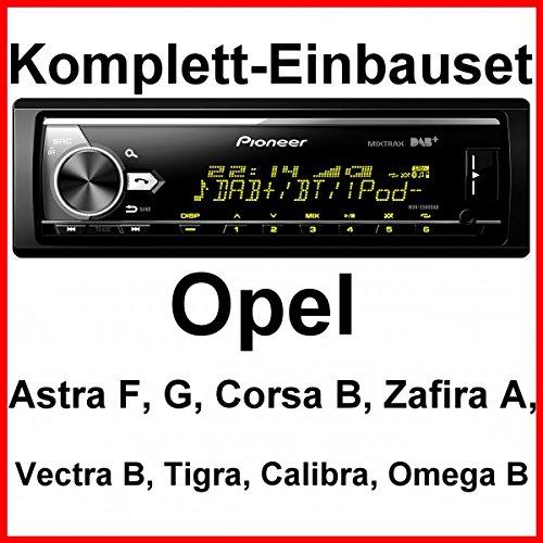 Komplett-Set Opel Astra F G Corsa B Zafira A Pioneer MVH-X580DAB Autoradio USB