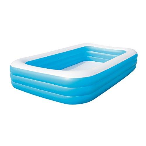 Bestway Family Pool Blue Rectangular Deluxe, 305x183x56 cm