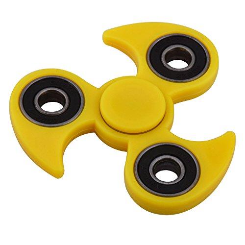 Hand Spinner KZKR Tri-Spinner Wirbelwind Dreieck Spinner Fidget Spielzeug für Anti Stress Erwachsene und Kinder Gelb Y213-Y