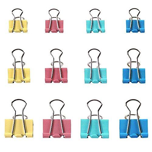 Zacro 60 Stück Foldback Klammern Vielzweckklammern Büroklammern Binder Clip 19/25/32mm farbig