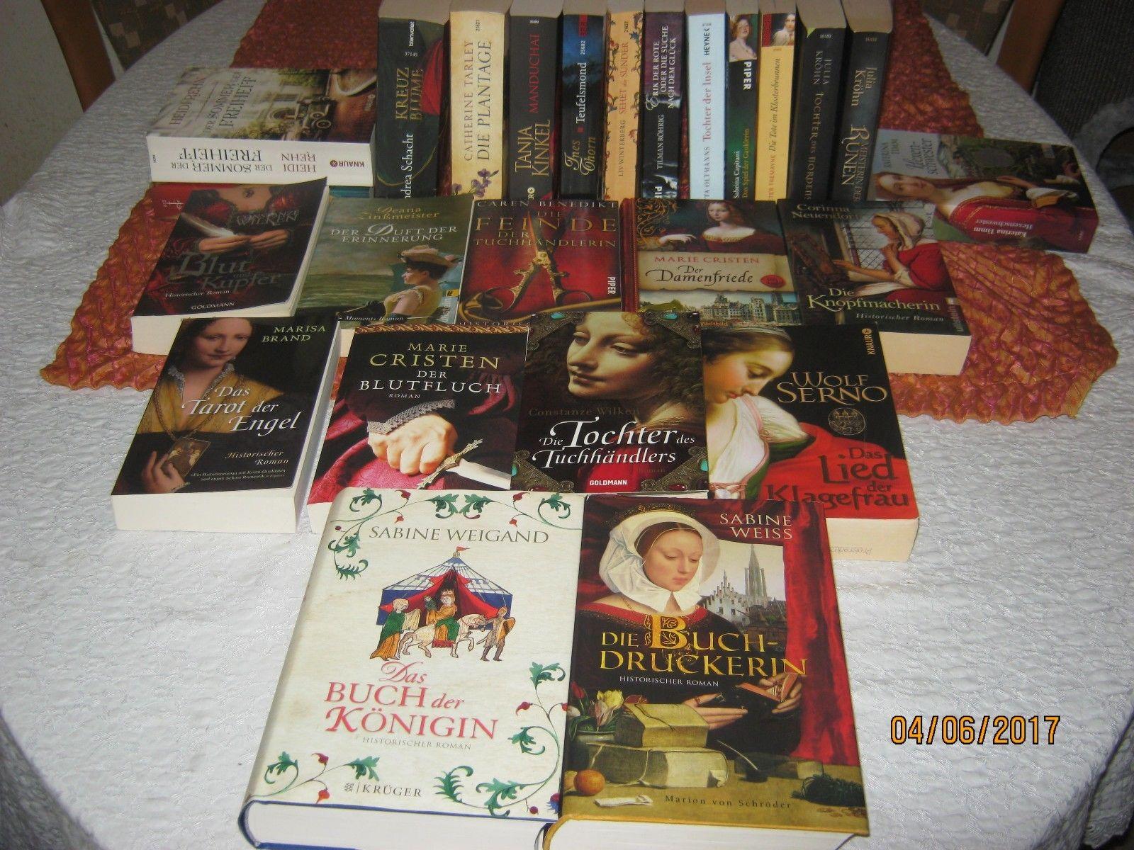 25 Historische Romane Bücherpaket bekannter Autoren