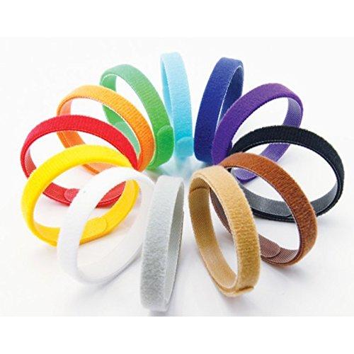 2-TECH Welpen Halsbänder 12 Farben Weiches Velcro Anpassbar Wiederverwendbar Beschriftbar ID 35 cm lang