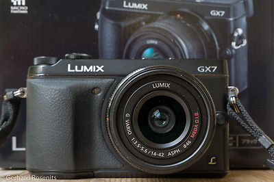 Panasonic LUMIX DMC-GX7 16.0MP Digitalkamera - Schwarz (Kit mit G ASPH. MEGA...