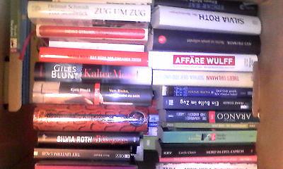 Sechs randvolle Bücherkisten mit Toptiteln und Autoren in Top-Zustand
