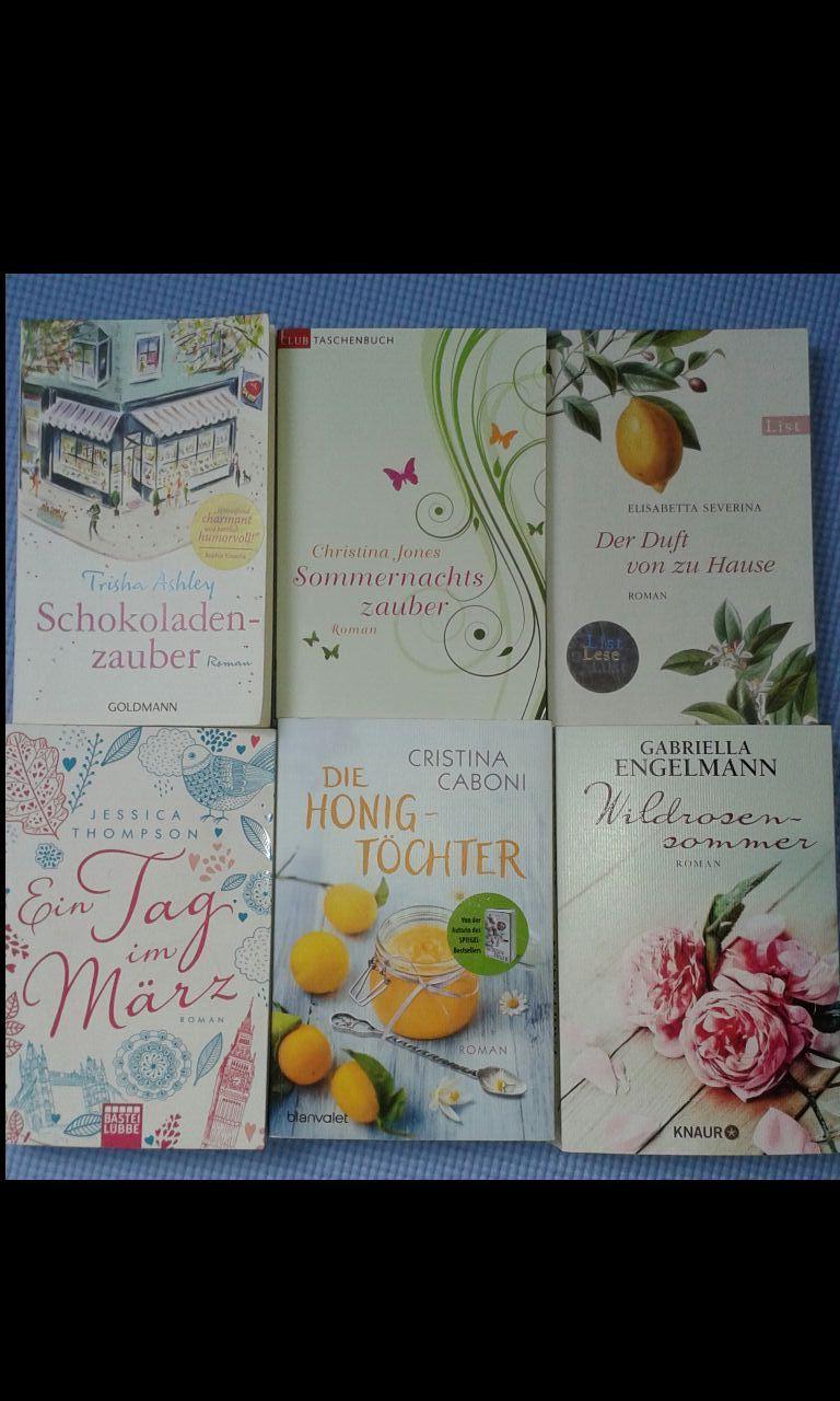 Bücher Sammlung Paket Frauenromane  6 Stück Liebe, Leidenschaft ,gefühlvoll