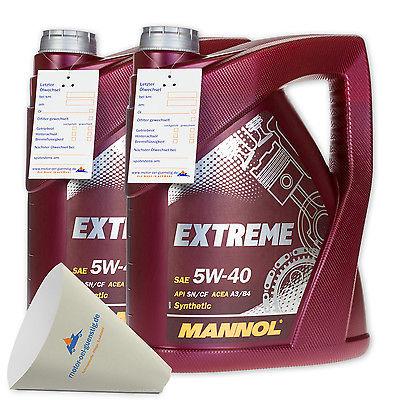 10 (2x5) Liter MANNOL SAE 5W-40 Extreme HC-Synthese-Öl