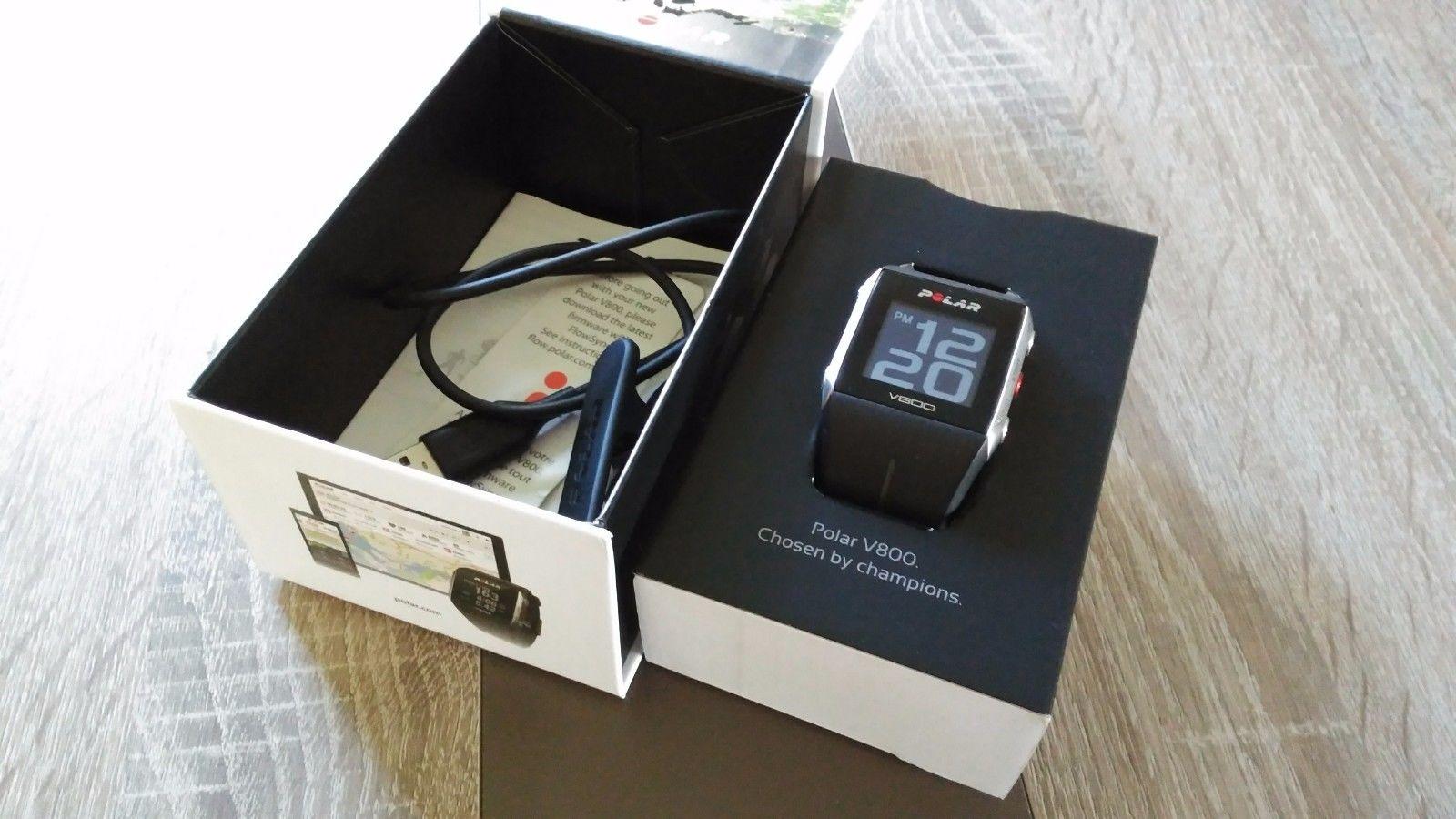POLAR Pulsuhr V800 GPS, Fitness Tracker mit Garantie