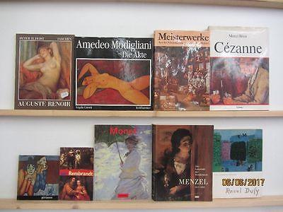 34 Bücher Bildbände Maler Malerei Künstler Gemälde Renoir Modigliani Monet u.a.