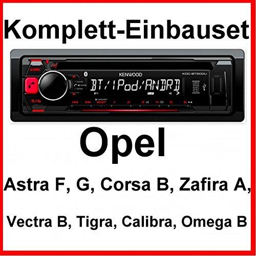 Komplett-Set Opel Astra F G Corsa B Zafira A Kenwood KDC-BT500U Autoradio USB