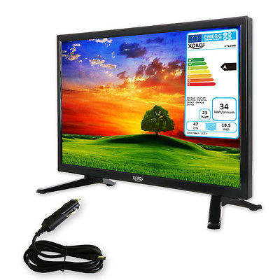 Camping TV 18,5 zoll Fernseher HD  mit SAT Receiver HD Triple Tuner DVB-S2