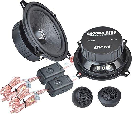 Ground Zero Iridium GZIC 13X Auto Lautsprecher Kompo-System 280 Watt für Audi A3 8L 08/96 - 04/03 Einbauort vorne :Türen / hinten : --